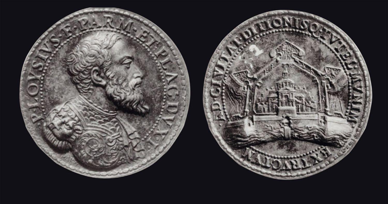 Medaglia in bronzo raffigurante Pier Luigi Farnese, 1547