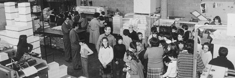 Il primo stabilimento di legatoria (1975 c.)